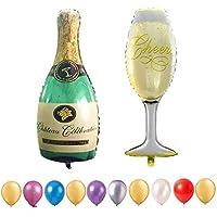 Aufblasbare Champagner Flasche cirka 73cm Dekoration Sekt Deko Sektflasche Party