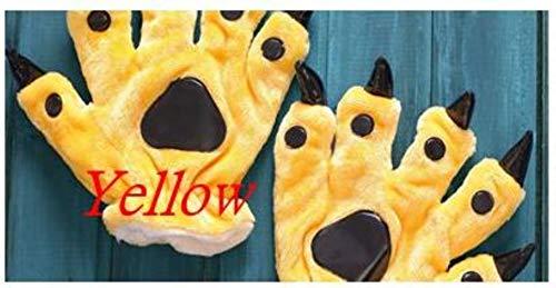 Kostüm Weiblichen Minion Kind - New Yellow Minions-Kostüm-Frauen-Pyjamas Kid Erwachsene Animelattich Pyjama-Party Weibliche Nachtwäsche Minion Onesies für Kind M, Paw-Handschuhe, L