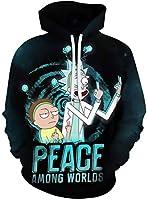 Chaos World Sudaderas con Capucha Hombre 3D Impreso Funny Cartoon Unisex Pullover Hoodie con Bolsillos (Peace,2XL(Tag 3XL))