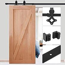 183/ 200cm Herraje para raíl de sistema puerta deslizante Herraje Puertas Corredera Riel Rueda para