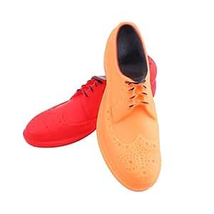 VORCOOL Denti molari PVC Pet scarpe Squeaker giocattolo per animali domestici (colore casuale)