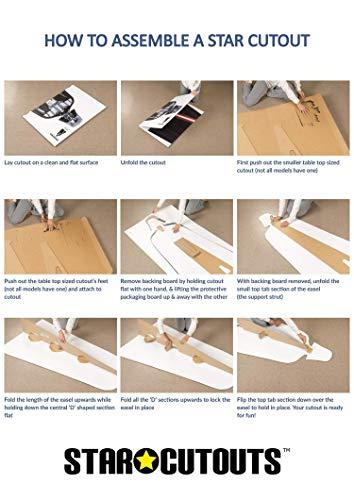 n LTD Agnes und flauschig Einhorn Life Größe Pappe, Holz, Mehrfarbig, 118x 100x 118cm ()