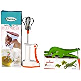 JJ Present Hand Blender For Kitchen With Multi Vegetable Cutter, Beater Lassi/Butter Milk Maker/Mixer Hand Blender Power Free + Multi Cutter With Peeler For Vegetable And Fruit Extra Sharp Stainless Steel