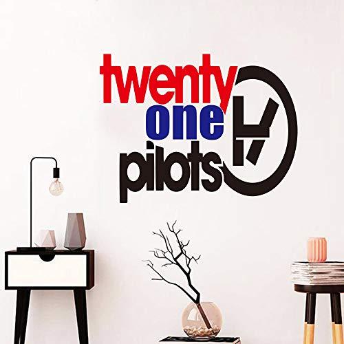Neues Design Einundzwanzig Piloten Wandaufkleber Vinyl Wandtattoo Für Zuhause Schlafzimmer Von Musik Band Bar Dekoration Wandbild Tapete Poster 56X43CM -