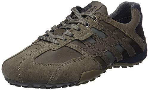 Geox Herren Uomo Snake K Sneaker, Braun (Taupe/Grey C6140), 39 EU