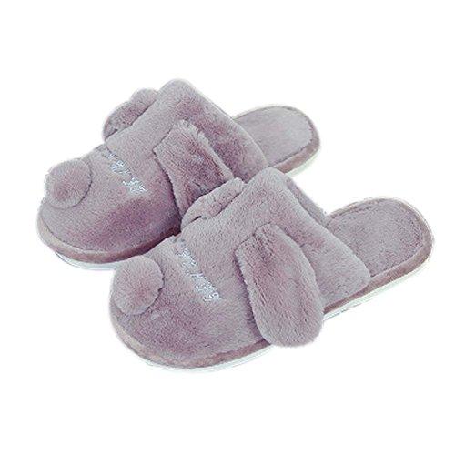 Casa cálida zapatillas par felpa suave dormitorio interior zapatillas de invierno regalos marrón