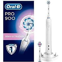 Oral-B Pro 900Brosse à dents électrique avec minuteur, Sensi Ultrathin et brossettes 3dwhite Blanc