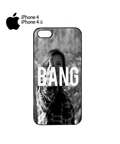 Sexy Girl Bang Cool Gun Attack Love Mobile Phone Case Cover iPhone 6 Plus + Black Noir