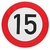 ORIGINAL Verkehrszeichen 15 Geburtstagsschild (m. Sondertext) Verkehrsschild Geburtstag Schild Straßenschild für Geburtstagsgeschenk
