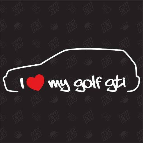 speedwerk-motorwear I Love My Golf 4 GTI - Sticker, MK4, Bj.97-03