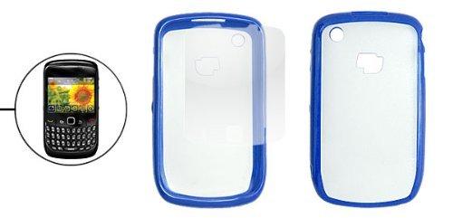 Blue Clear Kunststoff zurück Fall w LCD-Schirm-Schutz für Blackberry 8520 8520 Lcd