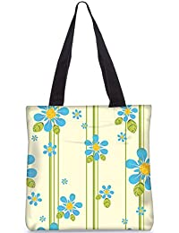 Snoogg Indian Pattern Poly Canvas Fashion Handbag Shopping Shoulder Lunch Tote Bag For Women 22869
