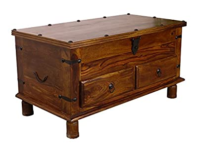Maharajah Indian Rosewood Thacket 2 Drawer Storage Coffee Table
