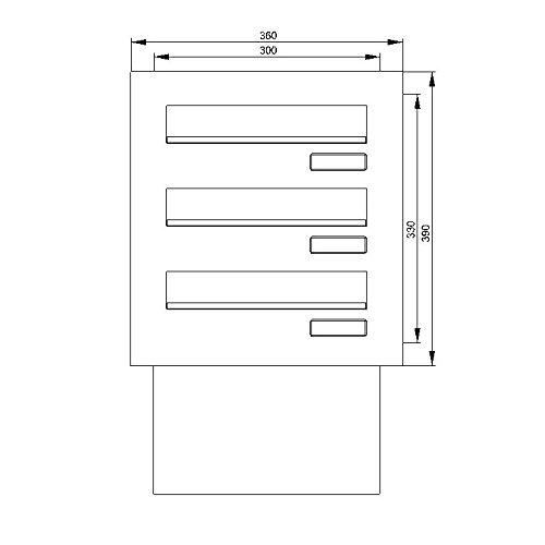 Mauerdurchwurf-Briefkastenanlage - 4