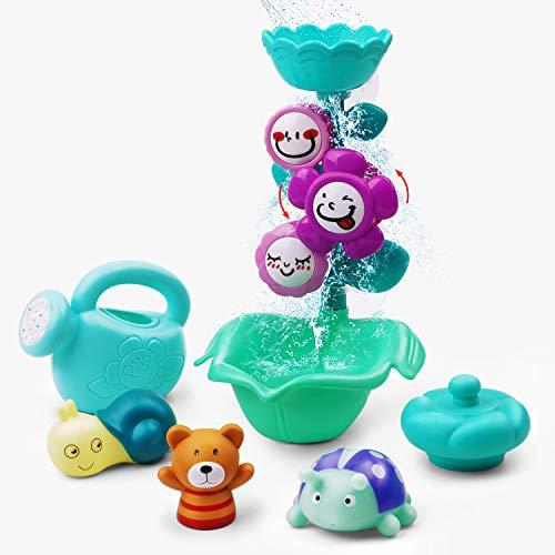 GizmoVine Badespielzeug Baby Spielzeug Blumen Gießkanne Bad Wand Spielzeug mit Saugnapf,Badewannenspielzeug Set Schwimmendes Poolspielzeug Wasserspielzeug Babyspielzeug für Babys Jungen und Mädchen