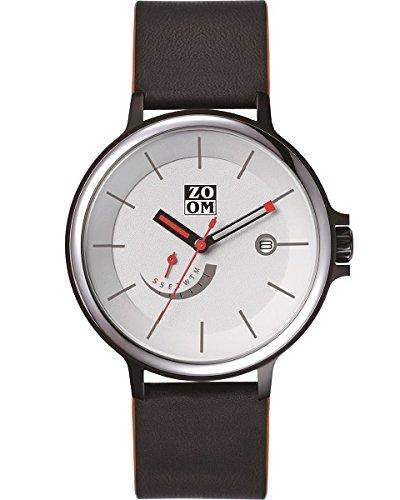 Zoom ZM. 7110M.2501–Watch, Leather Strap Black