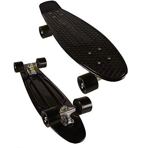 MoBoard Skateboard, Vintage-Stil, 68,6 cm, Schwarz