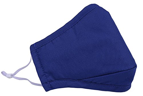 Weiches PM2.5 Anti-Smog + N95 Aktivkohlemaske Baumwolle Masken Blau