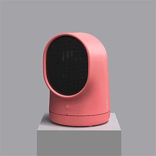 Msxx-Heizlüfter, tragbarer leiser elektrischer Konvektor mit oszillierender Keramikheizung, Ptc-Heiztechnologie, Temperatureinstellung und Überhitzungsschutz sowie Kippschutz,Rosa