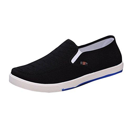 Hibote Herren Damen Freizeitschuhe Atmungsaktiv Sneaker - Unisex Flache Schuhe Leicht Loafer Arbeitsschuhe Classic Slip-on Low-Top 39-44