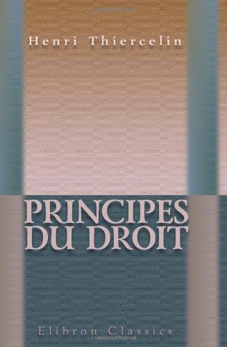 Principes du droit