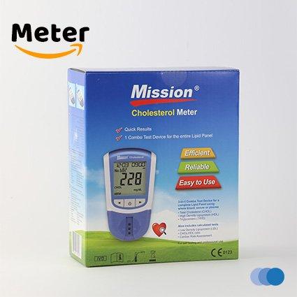 4in1 MISSION Cholesterin-Messgerät (HDL, LDL, TOTAL, TRIG) + 5 Teststreifen (Cholesterin-test)