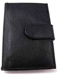 Mens New Luxury Soft Black Leather Credit Card Wallet
