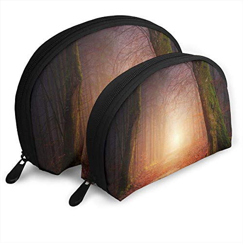 Forest Light Shell Portable Bags Clutch Pouch Cosmetic Makeup Bag Pouch 2Pcs -