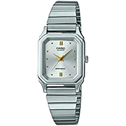 CASIO Collection Women's Quartz Watch with Silver Analogue Display and Silver Stainless Steel Strap LQ-400D-7AEF