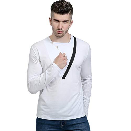 "➤Spätestens Bekleidung Oberteile,Loveso Taste Herren Langarm T-Shirt Modernes Lange Ärmel Slim Fit T-Shirt Tops Fitness Langarmshirts Sport Pullover Sweatshirt"""