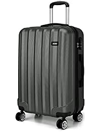 Kono Luggage Lightweight ABS Hard Shell Trolley Travel Suitcase with 4 Wheels