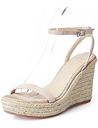 Mujer Para 34 De Zapatos Corcho Sandalias Amazon es WnqHwY0x4