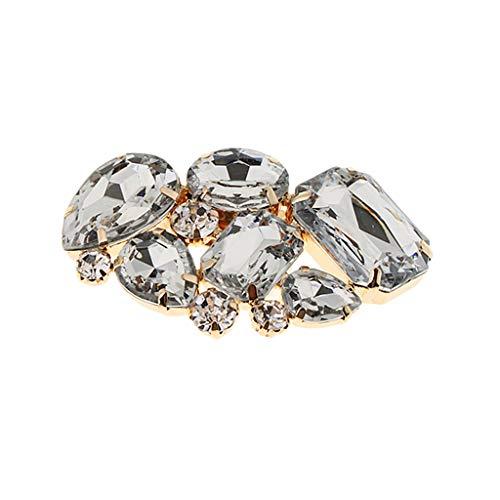 IPOTCH 1x Clip Floral Apliques Diamantes Imitación