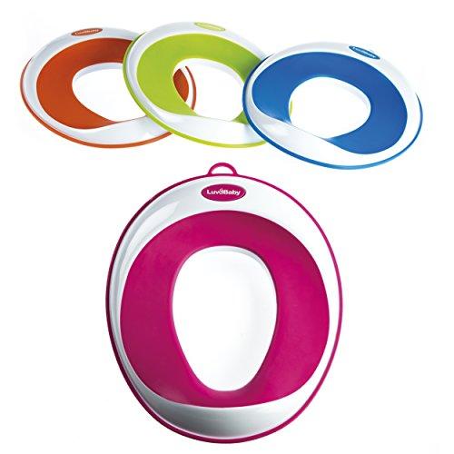 Toiletten-Training-Sitz – Kinder-Toiletten-Training-Klobrille für Jungen und Mädchen – sichere rutschfeste Oberfläche – UMSONST mitgeliefert: Haken mit Saugnapf zur Aufbewahrung Test