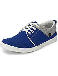 FOX HUNT Men's Trendy Royal Blue Casual Shoes, Mens Casual Sneaker Shoes, Modern Casual Shoes For Mens