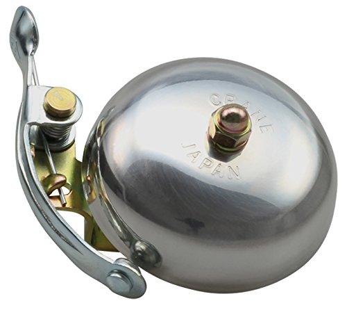 CRANE Bell Co. Fahrradklingel Suzu W/Steel Band Mount, Silber Poliert, CR-SZSB-PL