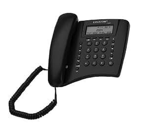 Logicom L470 Téléphone filaire Présentation du numéro de l'appelant Noir