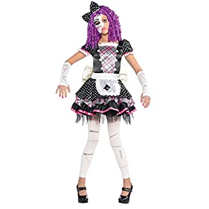 amscan - Disfraz para niña con diseño muñeca de porcelana, talla 12-14 años (999687)