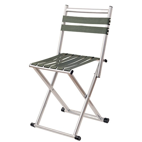 Klappstuhl KKY-Enter Folding Hocker Rückenlehne Faltbare Tragbare Outdoor Camping Picknick Angeln Stuhl Starke Tragende Durable (größe : L69*W35.7*H30cm)