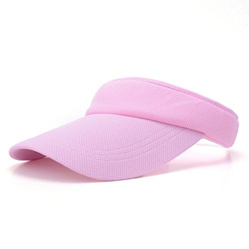 ZDD Outdoor-Freizeit Sonnenblende Hut Zylinderhut Bewegung leerer Hut Sonnenhut 7 Farben (Farbe : Pink)