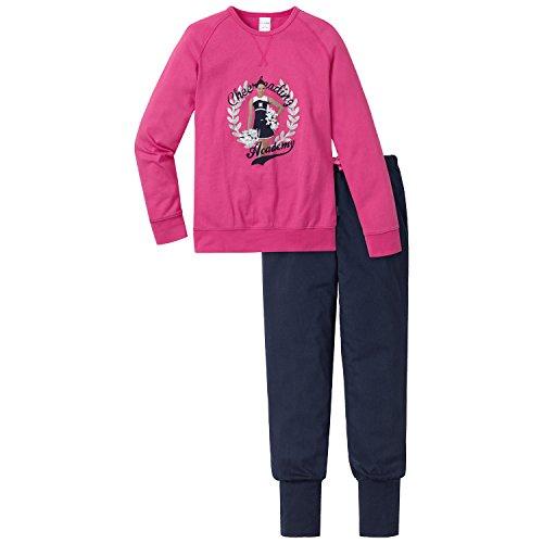 Schiesser Mädchen Zweiteiliger Schlafanzug Anzug lang, Gr. 164, Rot (pink 504)