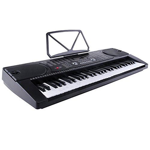 SUNCOO MK-2089 61 Tasten Klaviere Keyboards inkl. Mikrofon zum Mitsingen Elektronische Orgel Klavier Digitalpiano Schwarz