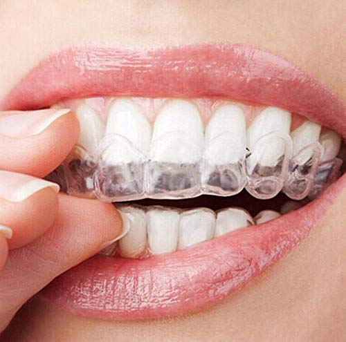 2Pcs/Pair Transparent Thermoform Moldable Mouth Teeth Dental Trays Dental Tooth Whitening Whitener Whitener Whitener