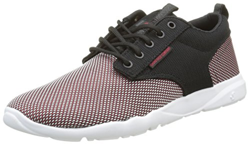 DVS APPAREL Premier 2.0, Baskets Basses Homme Noir (Black/Red Mesh)