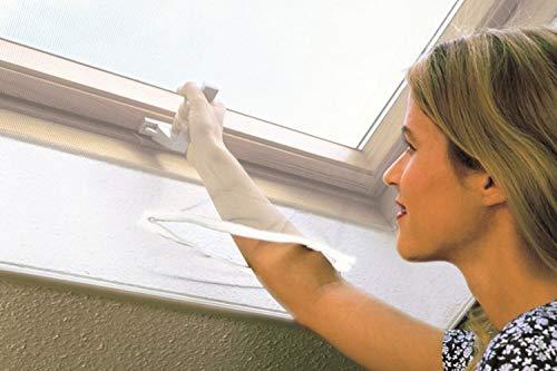 Fliegengitter selbstklebend, Dachfenster mit Schieber, Scattch, 140 x 170 cm, Weiß