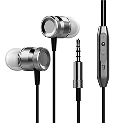 Lanspo Headphones, Metal In-ear Wired Headphones Subwoofer Headphones 3.5mm with Microphone Stereo In-ear, Headset, Earbud, Fashion : everything 5 pounds (or less!)