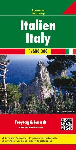 Italien, Autokarte 1:600.000: Wegenkaart 1:600 000 (freytag & berndt Auto + Freizeitkarten)