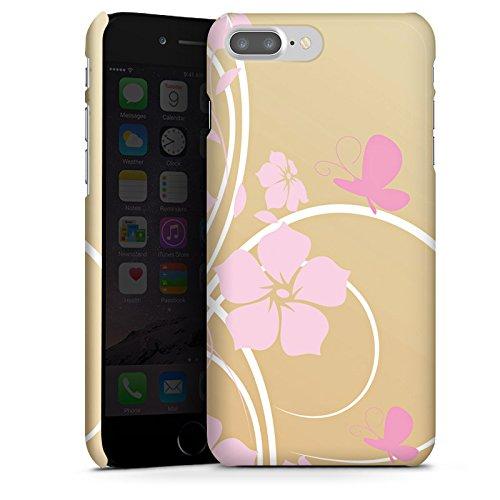 Apple iPhone X Silikon Hülle Case Schutzhülle Blume Schmetterling Floral Premium Case glänzend