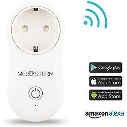 Melostern WLAN Steckdose WIFI Socket Kompatibel mit Alexa Echo/Echo Dot und Smart phone (1 Pack)