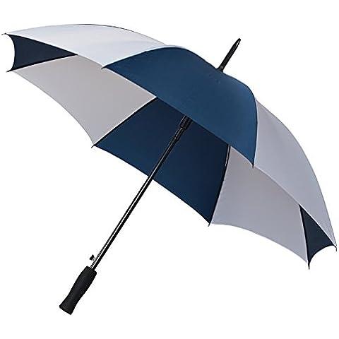 Falcone Compatto Automatico Ombrello da golf, colore: blu/bianco